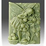 Let's DIY Flower Fairy Picking Friut 3D Silicone Candle Moulds Handmade Soap Mold (Color: A)