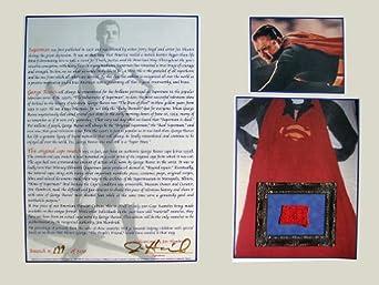 George Reeves Superman Cape Swatch Display