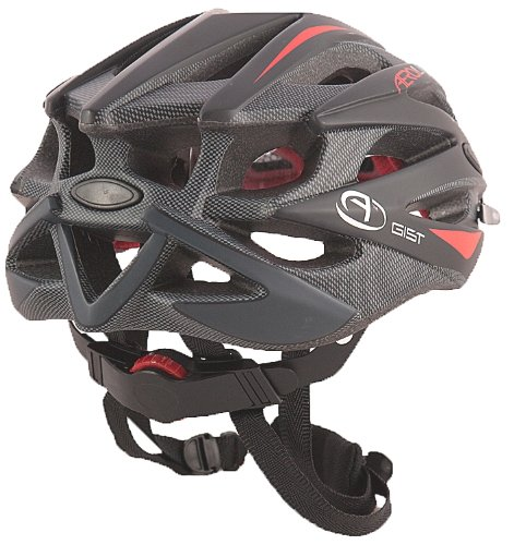 Aerolite Men's AeroFoil Bicycle Helmet - Black/Red, Size 58-61