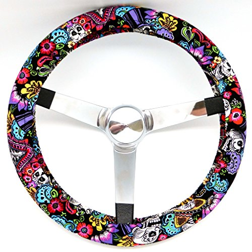 Mana Trading Handmade Steering Wheel Cover Chiquita Day Of The Dead (Steering Wheel Cover Sugar Skull compare prices)