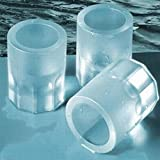CY-buity 4-Cup Shape Rubber Shooters Ice Cube Shot Glass Freeze Mold Maker Tray Party