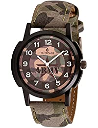 Sheldon Army Dial Analog Watch For Men SH-1052