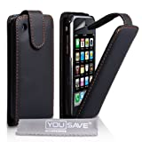 Apple iPhone 3 / 3G / 3GS Case PU Leather Flip Cover With Screen Protector & Polishing Cloth