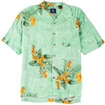 Caribbean Joe Mens Rendezvous Bay Shirt Medium Spearmint green