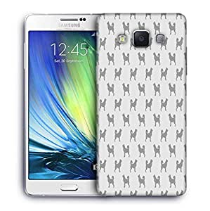 Snoogg Dogs In Grey Pattern Printed Protective Phone Back Case Cover For Samsung Galaxy A7