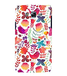 printtech Beautiful Bird Girl Pattern Back Case Cover for Samsung Galaxy A8 / Samsung Galaxy A8 A800F