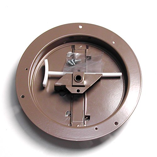 Accord ABCDBRD06 Ceiling Damper with Round Butterfly Design, 6-Inch, Brown (Air Vent Ceiling Cover compare prices)