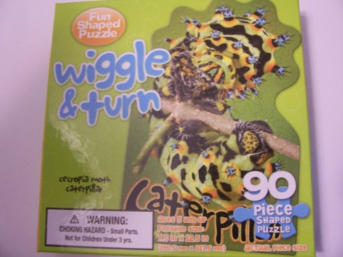 Shaped Puzzle ~ Wiggle & Turn Catepillar (90 Pieces) - 1