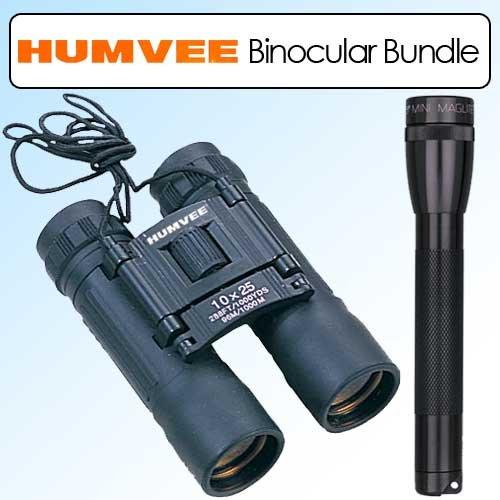 Humvee 10X25 Binoculars Compact Black