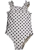 Bunz Kidz - Infant Girls 1 traje de lunares, Blanco, Negro 35165 - 24 meses Color: Blanco y Negro Polka Dot Tamaño: 24 Meses (Baby/Babe/Infant - Little Ones)