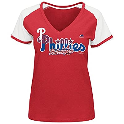MLB Women's Winners Circle Short Sleeve V-Neck T-Shirt Slimmer Fit