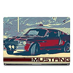 Inktree Vinyl Mustang Matte Finish Adhesive Laptop Skin (15 inch x 10 inch, Mulicolor)