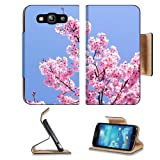Cherry Blossom with Blue Sky Samsung Galaxy S3 I9300 Flip Cover Case with Card Holder Customized Made to Order... by MSD Galaxy S3 Case