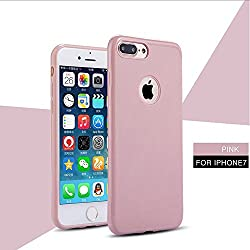 iPhone 7 Case, Laprite Slim Premium Matte Design Anti Dropping TPU Protection Back Cover for iPhone 7 ( Plain, Peach Pink )