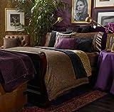Lauren by Ralph Lauren New Bohemian Black Quilted Patchwork FULL/QUEEN Bed Quilt Blanket