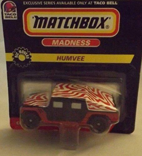1998 - Mattel - Matchbox Madness - Taco Bell Exclusive - Big Movers Series - Humvee - Red, Black with Red & White Roof - 1 of 4 - Checklist Series 2 - New - Out of Production - Limited Edition - Collectible - 1