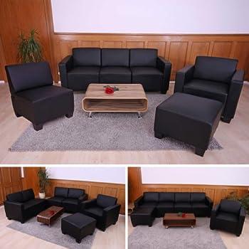 pas cher syst me de canap modulaire lyon ensemble simili cuir noir acheter en ligne. Black Bedroom Furniture Sets. Home Design Ideas