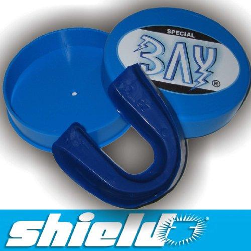 SHIELD® CE TOP Markenware BLAU ZAHNSCHUTZ mit Hygiene BOX, hergestellt für BAY®, blau, Box in blau