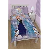 Housse de Couette Disney Frozen Elsa & Anna 135x200 cm + Taie 50x75cm 1 personne