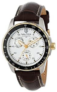 Nautica Men's N11502G Windseeker Multifunction Silver Dial Watch
