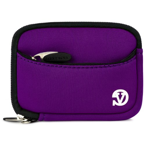 Vangoddy Mini Glove Sleeve Pouch Case For Canon Powershot Elph 140 Is, 135, 340 Hs, 115 Is, 130 Is, 520 Hs, 310 Hs, 510 Hs, 100 Hs, 300 Hs, 500 Hs Digital Cameras (Purple)