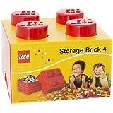 LEGO - Brique de rangement 4 tenons, Rouge