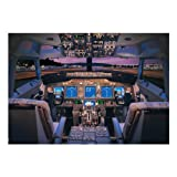 737 Flight Deck Matted Print