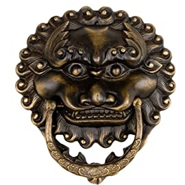 Leaping Lion Door Knocker Pulls 6'' - Set of 2