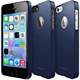 RINGKE SLIM for Apple iPhone 5 / 5S Case [SF MATTE NAVY - Logo Cut-Out] SUPER SLIM + SF COATED + PERFECT FIT Premium Hard Case + Logo Protection Film Included for [ECO Package]