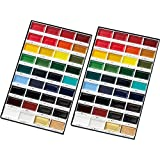 Kuretake Gansai Tambi Water Colors, 36-Color Set (Double) (Color: Red, Tamaño: Double)