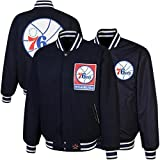 JH Designs Philadelphia 76ers Reversible Jacket by NYC Leather Factory Outlet
