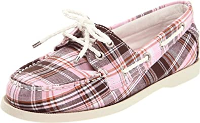 Sebago Women's Seashore Two-Eye Boat Shoe, Brown/Pink, 5.5 M US