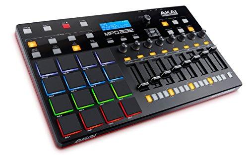 photo AKAI Pro MPD 232 contrôleur USB/MIDI avec 16 Pads et Step-Séquenceur 32 Pas + Série de Logiciels de création Incluse