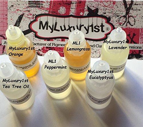 10 ml Lavender Tea Tree Eucalyptus Lemongrass Orange Peppermint Lot of 6 Customizable Essential Oils 100% Pure Samples No Additives