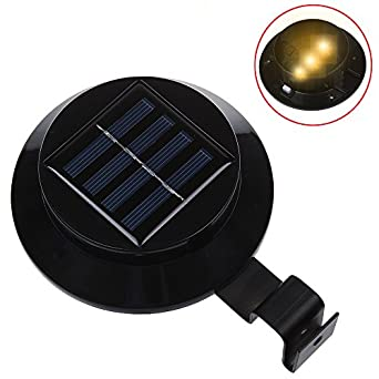 dbpower schwarz 3led solar fence light led solar dachrinnen light solar led wandleuchte. Black Bedroom Furniture Sets. Home Design Ideas