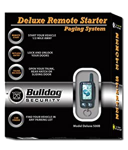 Bulldog Security Deluxe500B Remote Starter with Keyless Entry, LCD Remote and Bypass Module
