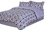 51F91BJBSJL. SL160  Divatex Dots Microfiber Twin XL Comforter Bed In the Bag