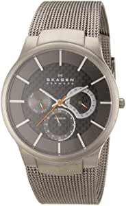 Skagen Men's Carbon Fiber Dial Titanium Watch Grey 809XLTTM