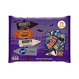 HERSHEY\'S Halloween Snack Size Assortment (38.27-Ounce Bag, 75 Pieces)