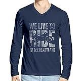 Hueman Men's Cotton T-Shirt (hue074_Navy_X-Large)