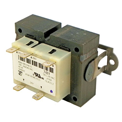 Protactor Transformer 208/240V Primary - 24V Secondary - 40 VA Replaces York Coleman Evcon Luxaire S1-02518452700 (Transformer 240 Vac 24 Vac compare prices)