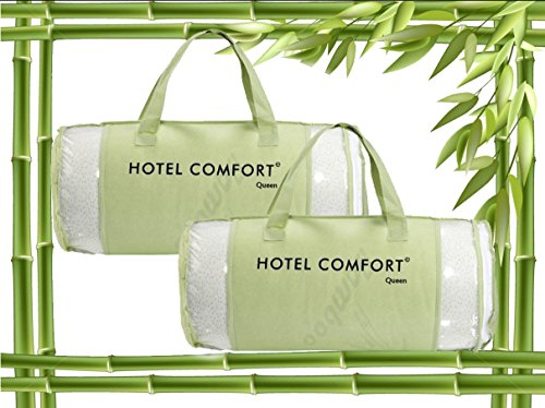 Hotel Comfort Bamboo Covered Memory Foam Pillow- Queen - Set Of 2 front-646363