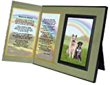 Pet Lover Remembrance Gift, Beyond the Rainbow Poem, Memorial Pet Loss Picture Frame Keepsake and Sympathy Gift Package