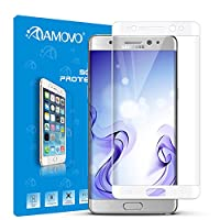 AMOVO® Galaxy Note 7 Screen Protector, [Full Coverage] [3D Tempered Glass] Curved Tempered Glass Screen Protector for Samsung Galaxy Note 7 [9H Hardness] [Anti-Scratch] [Ultimate Clarity] (White) by AMOVO