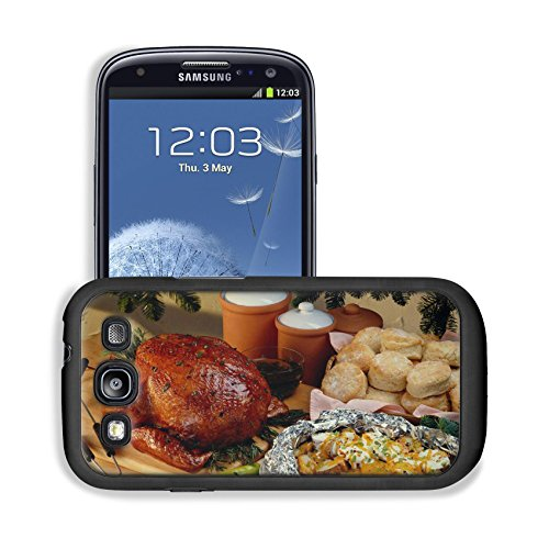 Roasted Chicken Bread Buns Feast Samsung I9300 Galaxy S3 Snap Cover Premium Leather Design Back Plate Case Customized Made To Order Support Ready 5 3/8 Inch (136Mm) X 2 7/8 Inch (73Mm) X 7/16 Inch (11Mm) Luxlady Galaxy_S3 Professional Cases Touch Accessor front-629226