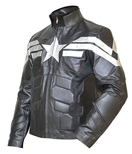 Captain America Winter Soldier Avenger Chris Evans SHEEP Leather Jacket XS-3XL