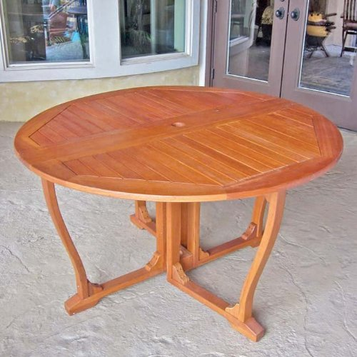 Royal Tahiti Outdoor Furniture: 51-Inch Round Gate Leg Table