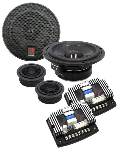 """H500A - Diamond Audio 5.25"""" Hex Series Component System With Aluminum Dome Tweeters"""