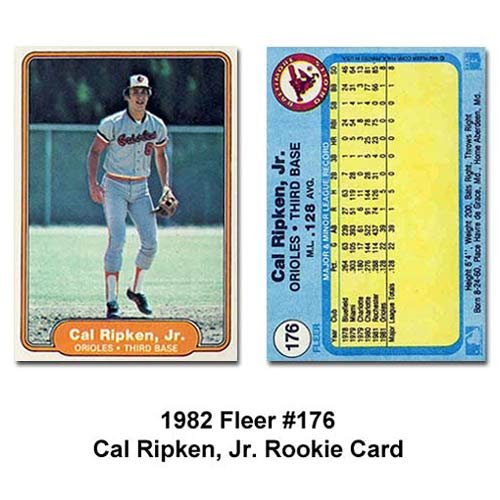1982 Fleer # 176 Cal Ripken Jr. Baltimore Orioles Baseball Card