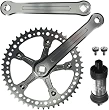 CNC Alloy Fixie Single Speed Crankset With BB 48 Teeth 165mm